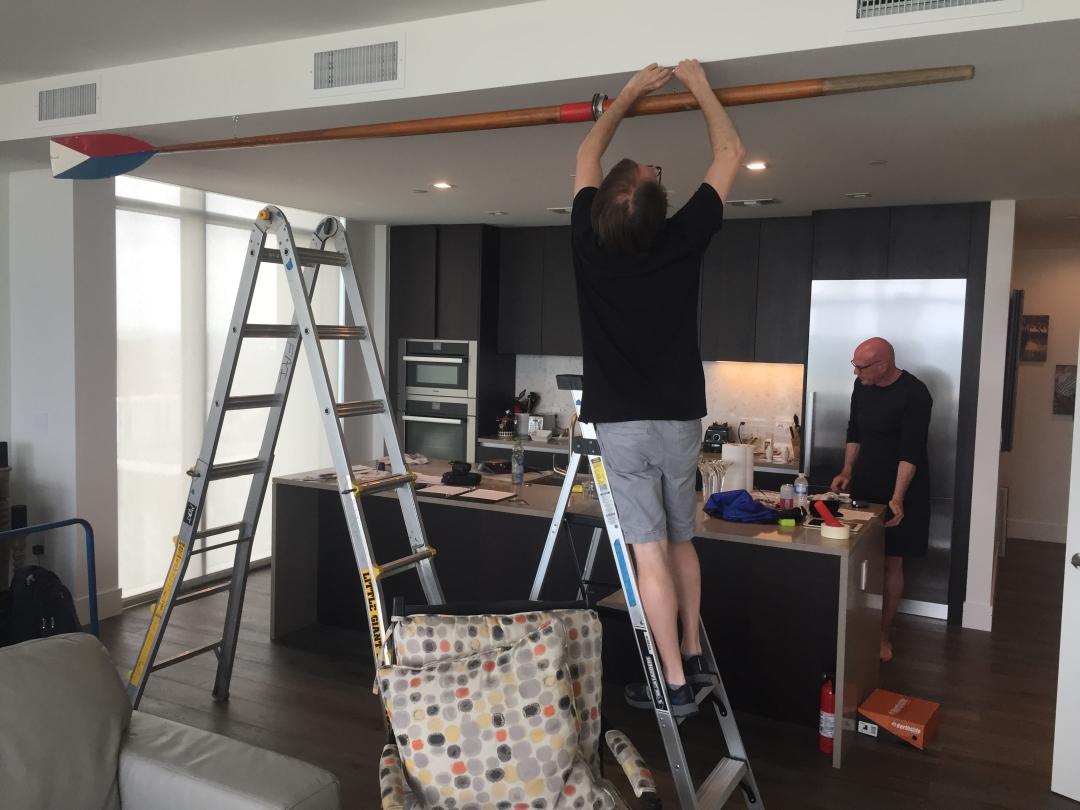 Crew Paddle Installation Austin Art Service