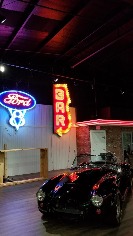 Suspended Neon in Dallas, Texas