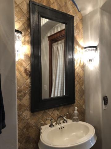 Bathroom Mirror Installed on Tile