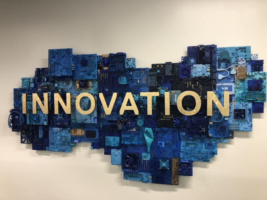 """""""Innovation"""" Dell Headquarters Art Installation, Austin, Texas"""