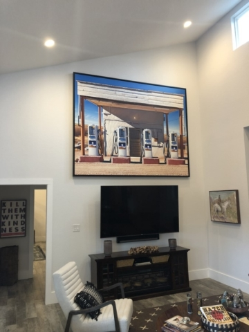 Large Framed Art Installation, Austin, Texas