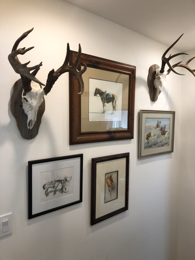 Trophies and Prints Installation
