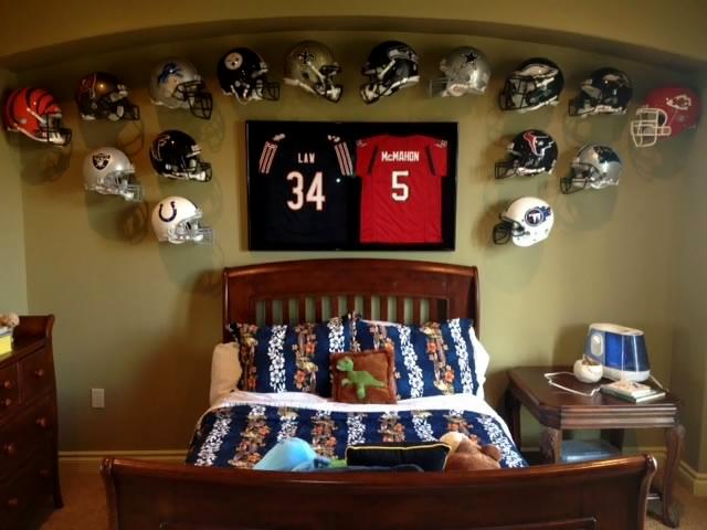 Custom Sports Memorabilia Wall Hanging, Austin, Texas