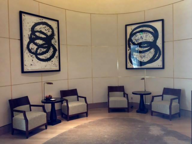 Art Installation on Concave Curved Wall