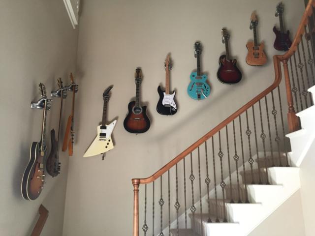 Custom Guitar Wall Hanger Installation