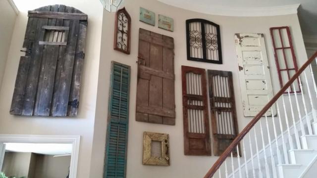 Antique Doors Custom Art Installation, Dallas, Texas