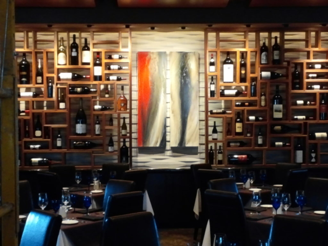 Painting Installation for Wine Bar in Dallas, Texas