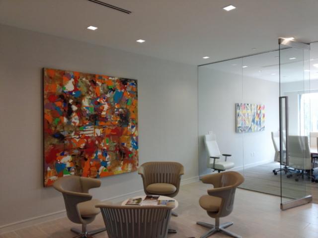 Office Art Install in Austin, Texas