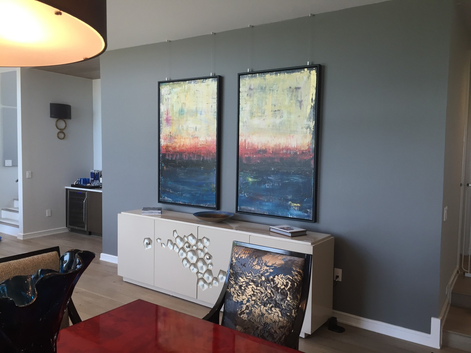Ceiling Mounted Paintings