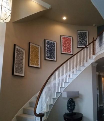 Stairway Art Installation