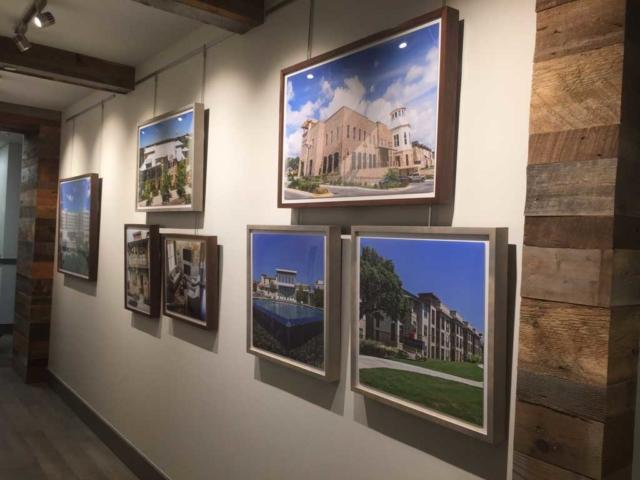 Gallery Wall Art Installation in Texas