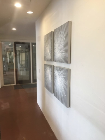 Paintings Installed with Security Hardware, Austin, Texas