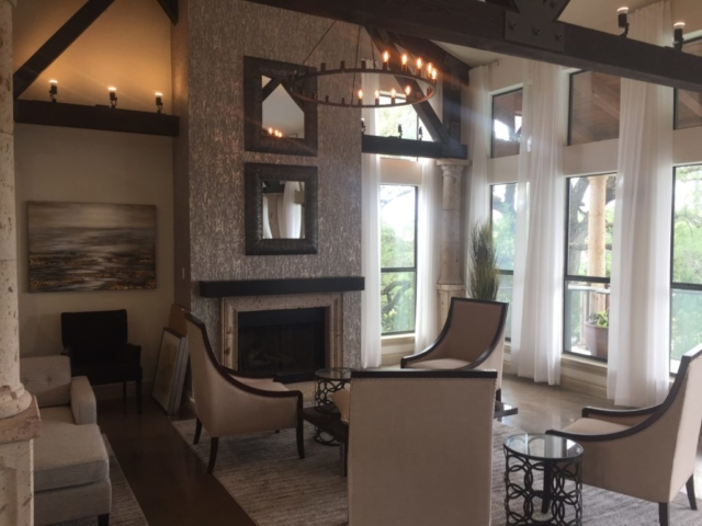 Drapery Panels at Bell Apartments, Austin, Texas