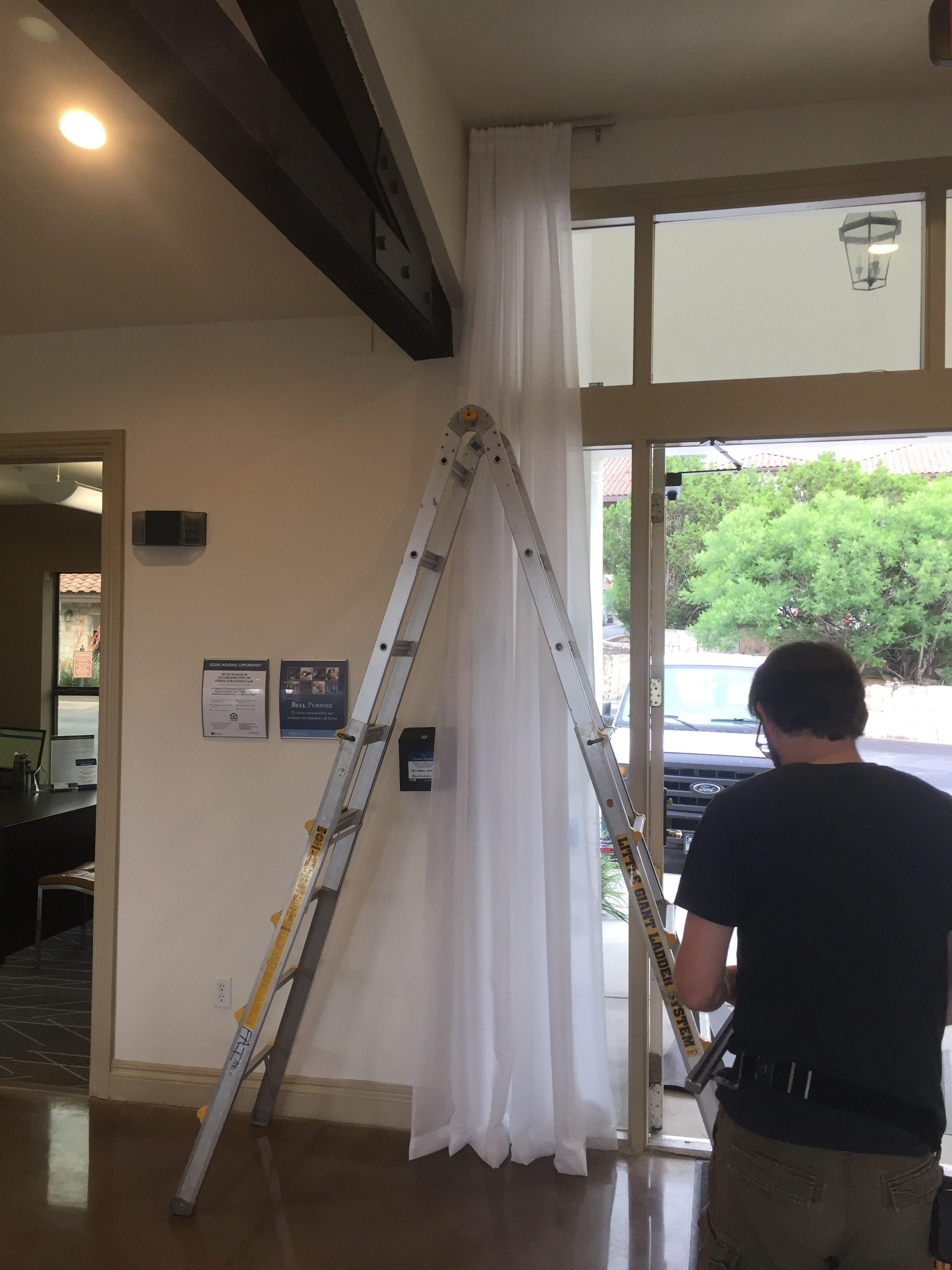 Installing Drapery Panels, Austin, Texas
