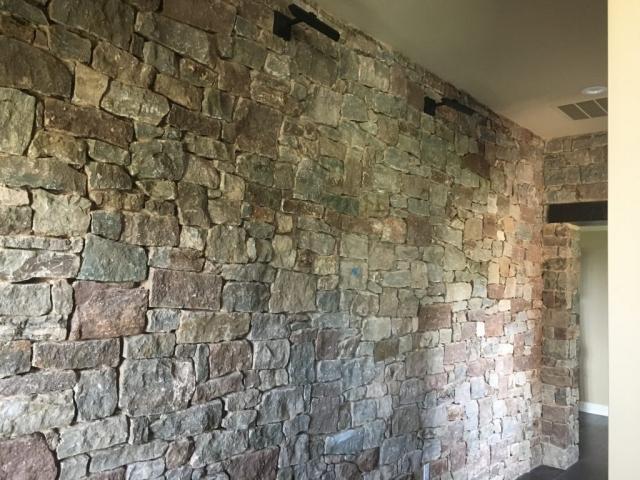 Stone Wall, Art Hanging, Austin, Texas