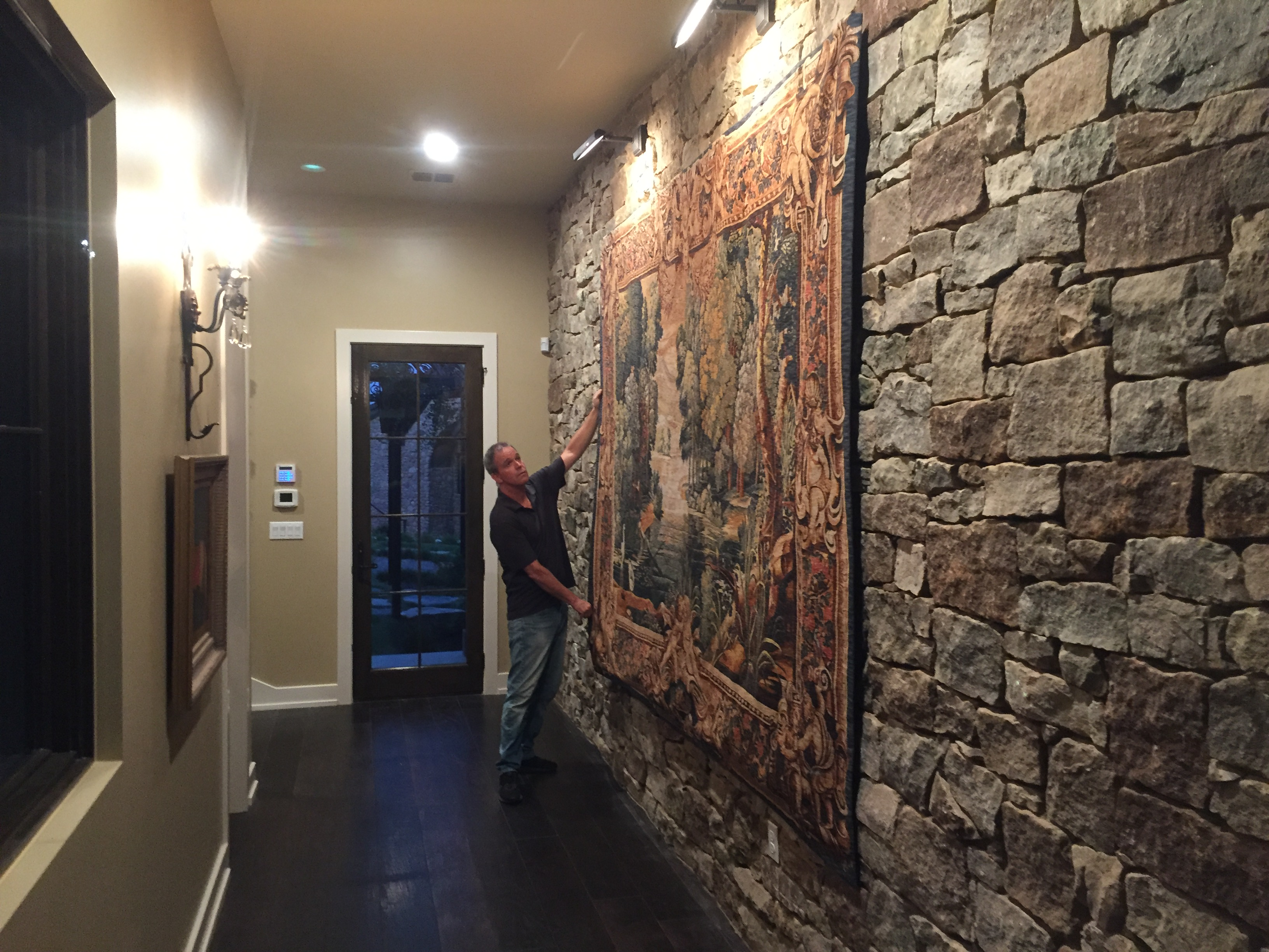 Hanging a Tapestry