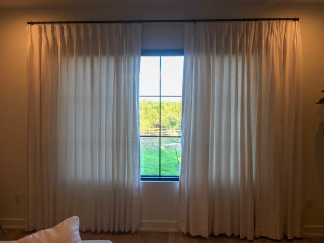 Hanging Panel Curtains, Art Services, Austin, Dallas